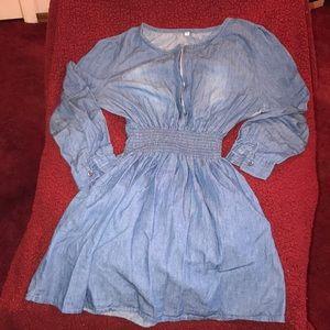 Long sleeve jean dress